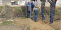 تکمیل و اتمام پروژه فنس گذاری اطراف دریاچه سد انحرافی شاوور۱