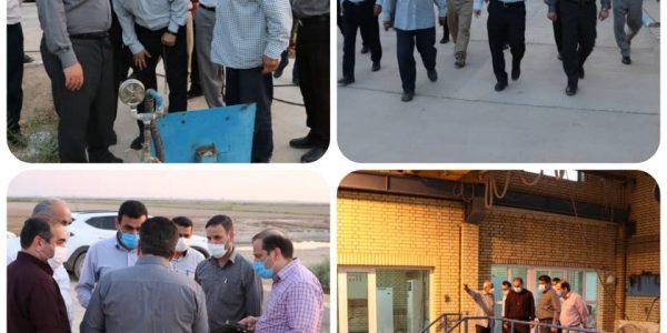 بازدید معاونت عمرانی استاندار خوزستان از مسیر کانال MC1 و تاسیسات ایستگاه قیصریه در حوزه کرخه جنوبی شرکت بهره برداری از شبکه های آبیاری کرخه و شاوور