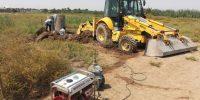 فع آب گرفتگی منازل روستائیان واقع در ناحیه عمرانی TB2 چوئبده آبادان۳